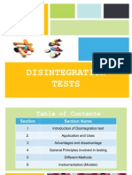 Disintegration Test