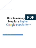 How to Name Your Blog for a Higher Google Popularity