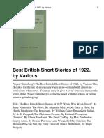 The Best British Short Stori