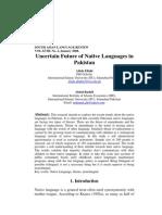 Uncertain Future of Native Languages in Pakistan