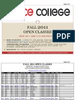 Fall 2011 Open Classes-3