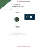 Pengantar Filsafat Ilmu dr Liza (Pasca Sarjana STAIN Cirebon)