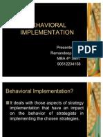 Behaviour Implementation