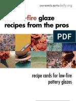 15 Low Fire Glaze Recipes