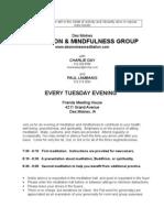 Tuesday Evening Meditation Group