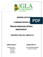 "Seminar Report on ""neural network and their applications"""