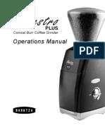 Baratza Maestro Plus Manual