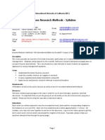 Business Research Methods Syllabus