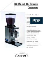Anfim Super Caimano on Demand Display Dosatore leaflet