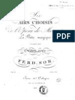 Fernando Sor, op.19 - Six airs de La flûte magique