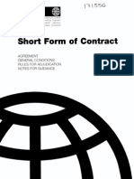 Fidic-short Form of Contract