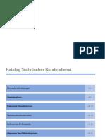 Katalog Technischer Kundendienst