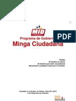 Programa de  Gobierno Minga Ciudadana