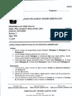 Percubaan SPM 2011 Terengganu (Bahasa Inggeris Kertas 2)