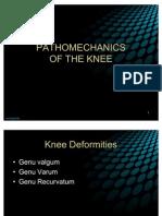 Pa Tho Mechanics of Knee Joint