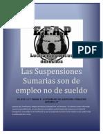 Desicion Del Supremo La Suspensión Sumaria es de Empleo no de Sueldo