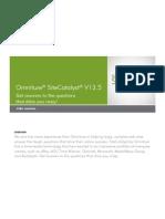 Site Catalyst 13.5 User Manual