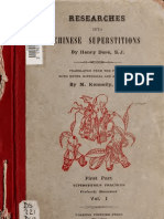 Dore, Henry - Research Into Chinese Superstitions Vol 1