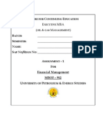 Financial Management Assg-1