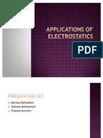 Applications of Electrostatics
