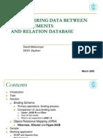 Transferring Data XML Rdb