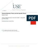 Glasner - 2000 - Classical Monetary Theory and the Quantity Theory