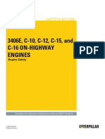 3406E, C-10, C-12, C-15 and C-16 on-Highway Engines-Engine Safety
