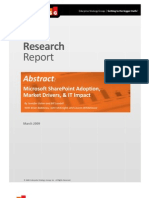 ESG Research Report Share Point Adoption and Market Drivers Abstract