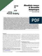 Rhodiola Rosea a Versatile Adaptogen