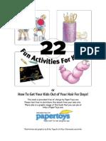 22 FUN Activities for Kids