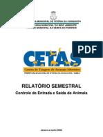 Relatório Semestral Janeiro a Junho de 2008