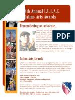 2011 Latino Arts Awards Flyer V3