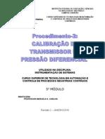 Procedimento-2 Calibração do Transmissor de Pressão YOKOGAWA