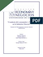 """""""CONDUCTA DEL CONSUMIDOR Y PIRATERÍA EN LA INDUSTRIA MUSICAL"""""""