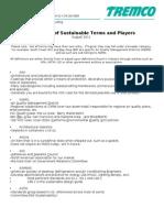 Sustainability Dictionary