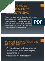 Iniciacion Del Procedimiento Administrativo...