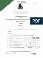 Percubaan UPSR 2011 - Bahasa Inggeris ( Kuala Lumpur ) Kertas 2