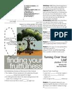 Fruitfulness 5 Josh 1_1-5 Handout 082111