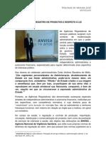 ANVISA - REGISTRO DE PRODUTOS E RESPEITO À LEI
