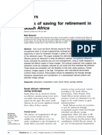 Costs of Saving for Retirement in SA
