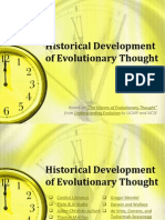 Historical Development of Evolutionary Thought
