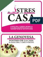 TORTAS DE LA CASA / CAROLINA CORREA BONILLA