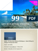 99 KATA-KATA MUTIARA KEHIDUPAN