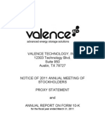 Valence FY 2011 Annual Report