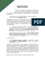 Memorandum of Law Employee Not Officer