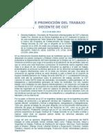 TALLER DE PROMOCIÓN DEL TRABAJO DECENTE DE CGT - Argentina
