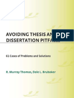 Avoiding Thesis Pitfalls