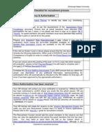 Sample Checklist for Recruitment