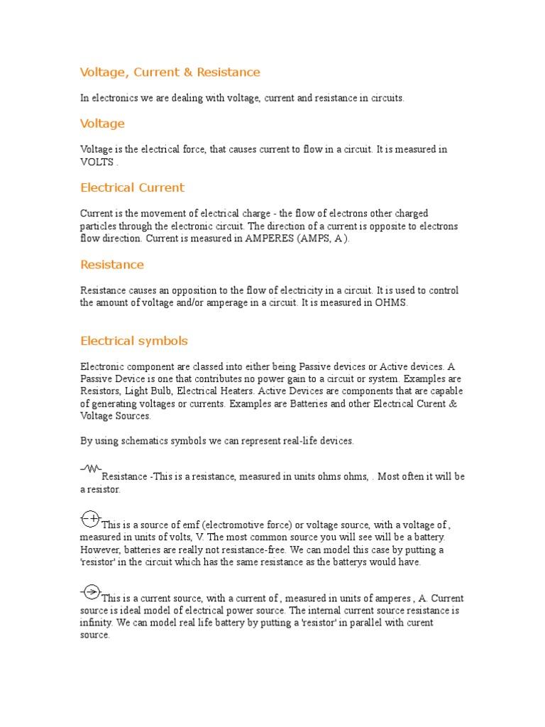TEKNOLOGI ELEKTRIK 1 - Voltage | Electrical Network | Electric Current