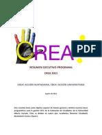 Resumen Ejecutivo Programa CREA 2011